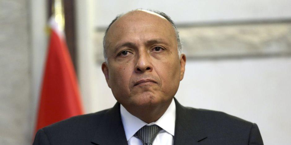 وزير الخارجية يستعرض جهود مصر بملف المصالحة الفلسطينية