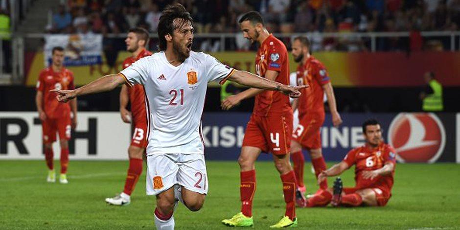أسبانيا تهزم مقدونيا 2 / 1 وتواصل تصدر المجموعة السابعة بتصفيات المونديال (فيديو)