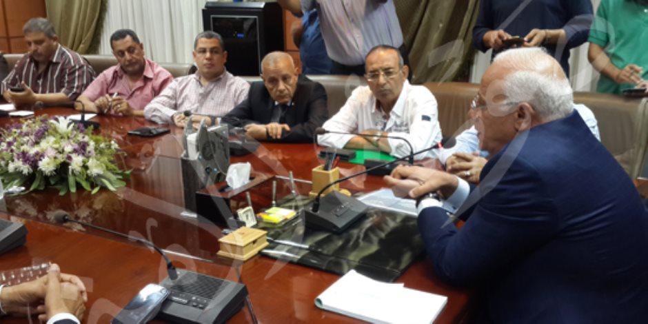 بالصور. محافظ بورسعيد يعتمد نتيجة الإعدادية بنسبة 78.75%
