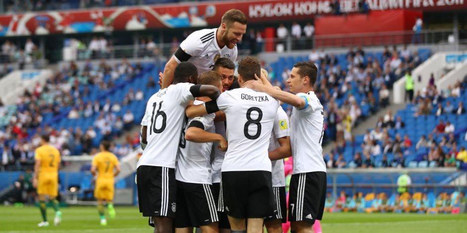 كأس القارات.. ألمانيا تتعادل مع تشيلي 1 / 1  في الشوط الأول