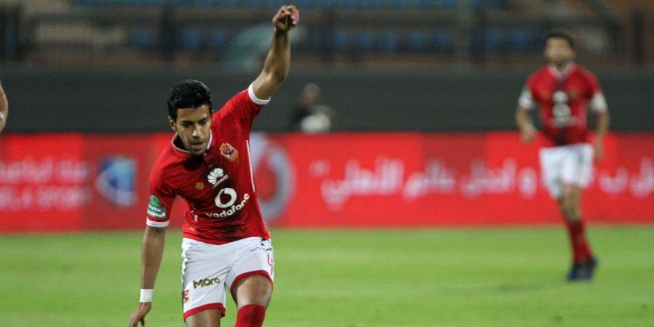 أحمد حمودي يهدر ركلة جزاء أمام تليفونات بني سويف في كأس مصر