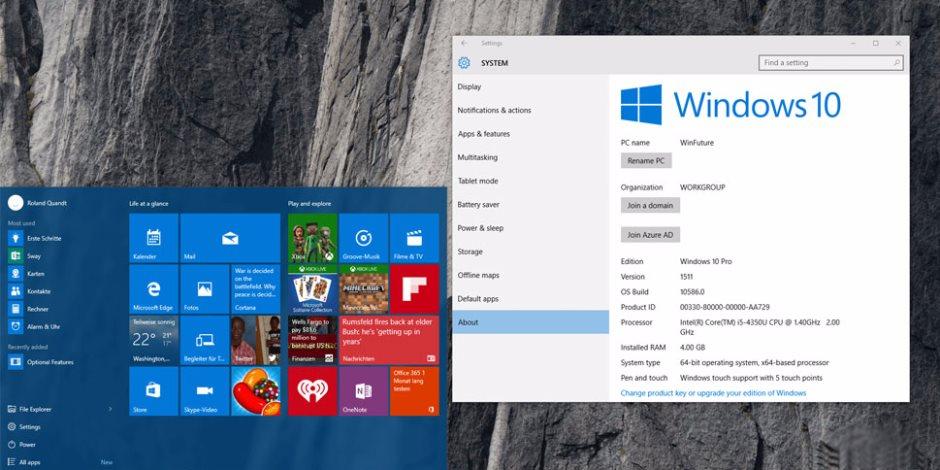 مايكروسوفت توقف دفع التحديثات لنسخة ويندوز 10 رقم 1507