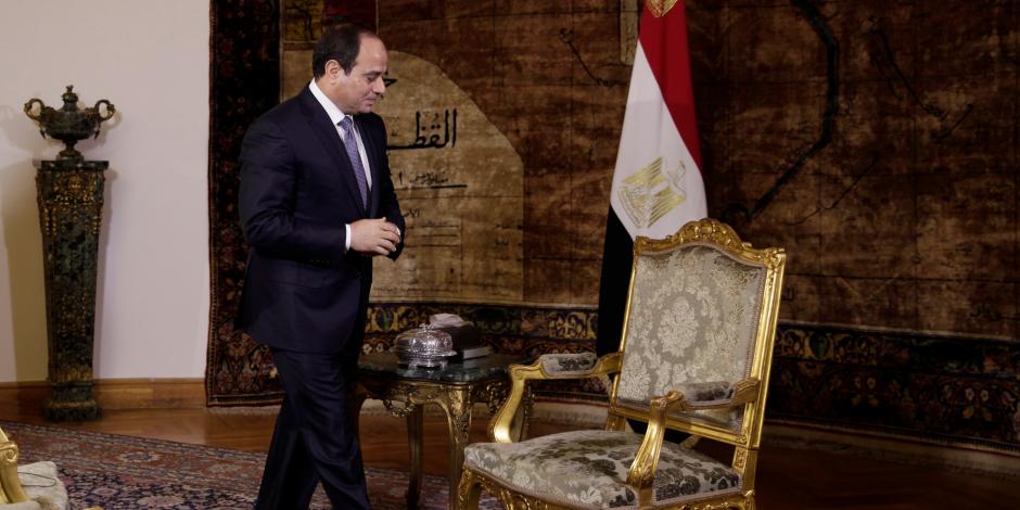 الرئيس السيسي يستقبل رئيس شركة إيني الإيطالية بقصر الاتحادية