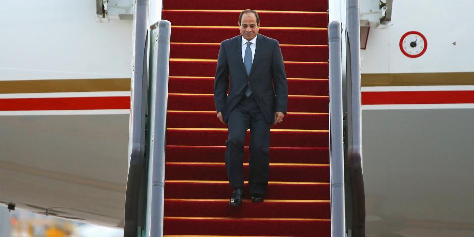 الرئيس السيسي يصل إلى قبرص للمشاركة بالقمة الثلاثية