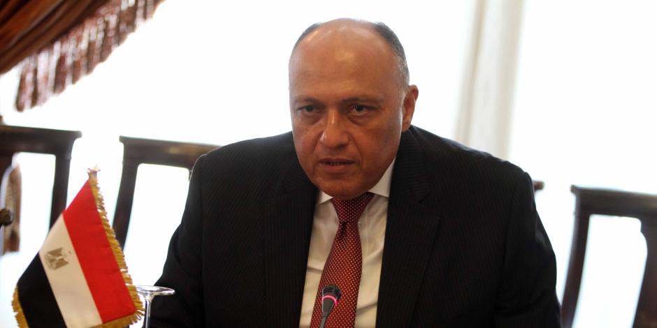 وزير الخارجية يبحث مع رئيس البرلمان العربي مكافحة الإرهاب
