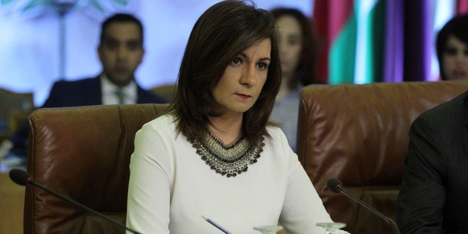 وزيرة الهجرة تدلي بصوتها في الانتخابات الرئاسية (فيديو)
