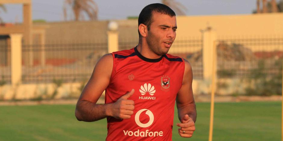 رغم أزمته مع حسام البدرى.. عماد متعب يشارك في مران الأهلي