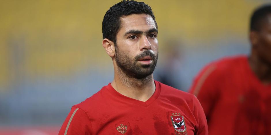 البدري ينفعل على أحمد فتحي في مباراة الأهلي وسموحة