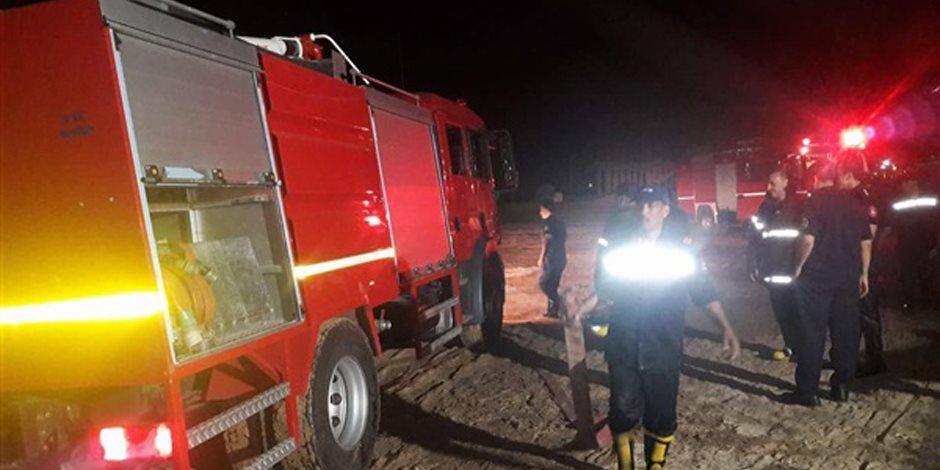 حريق هائل بمحطة وقود غير مرخصة بالغربية واختناق 4 مواطنين و الدفع بـ15 سيارة إطفاء