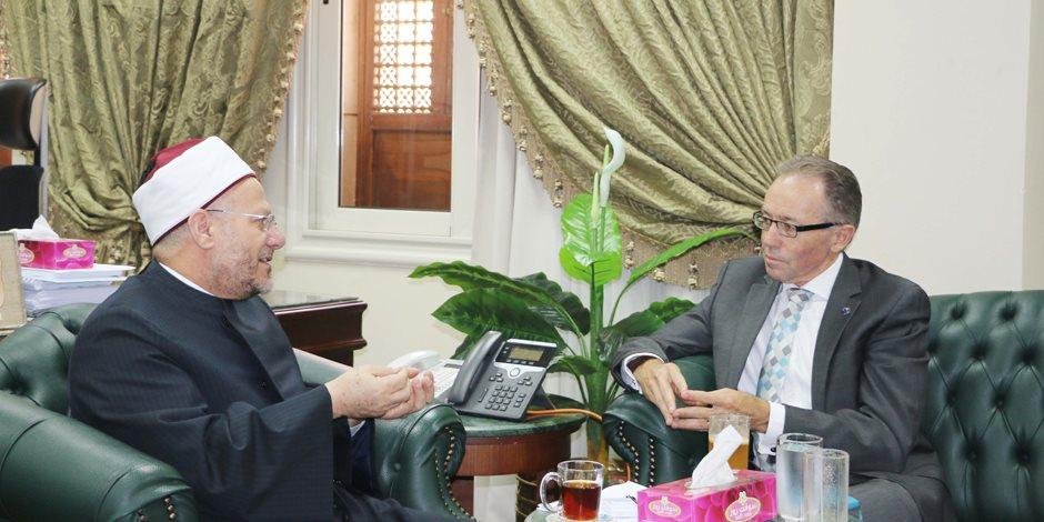 سفير أستراليا للمفتي: نساند مصر في هذه المرحلة الفارقة وتجربتكم ناجحة