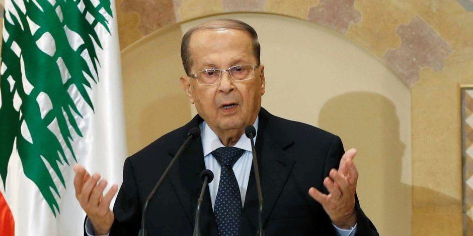 الرئيس اللبنانى يؤكد حرصه على دعم تحويل اقتصاد بلاده إلى اقتصاد منتج