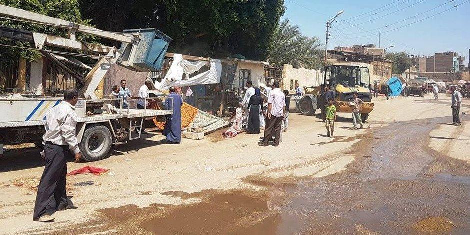 نقل السوق الأسبوعي من أمام ميريت أمون إلى منطقة المشهدي بأخميم