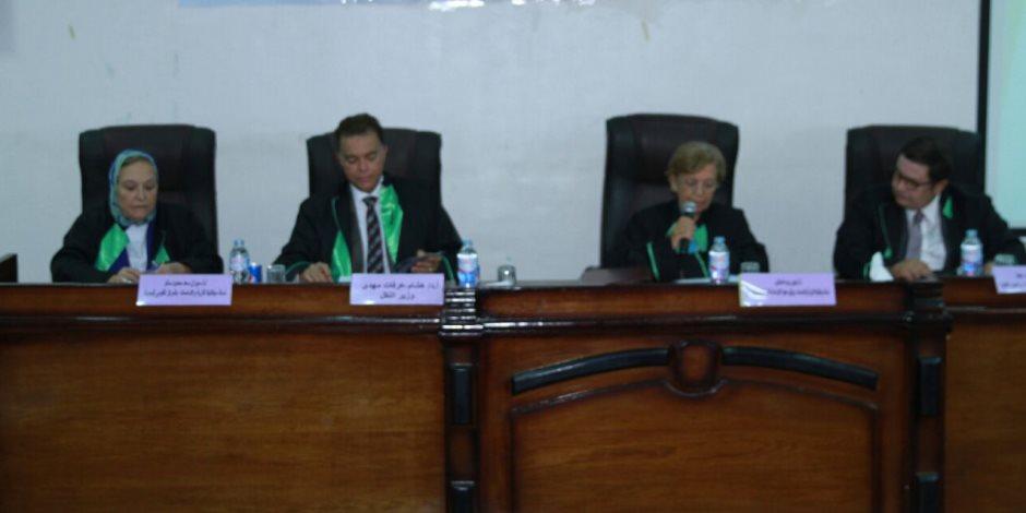 وزير النقل يشرف على رسالة دكتوراه بجامعة الزقازيق (صور)