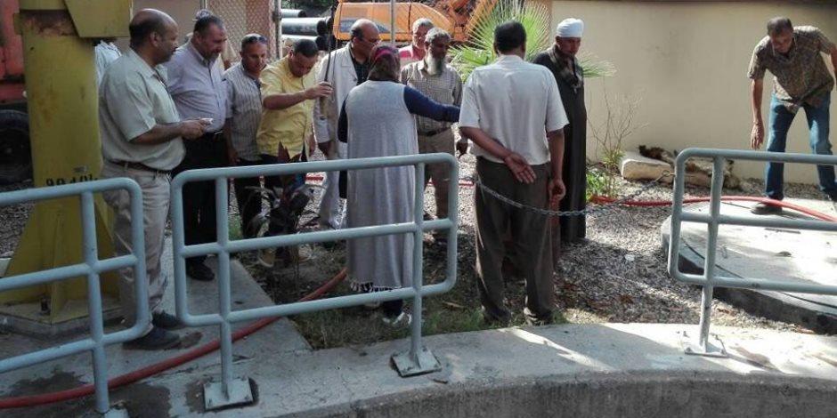 مياه القناه تكثف أعمال الصيانة لحل مشكلة صرف حي ثان الإسماعيلية