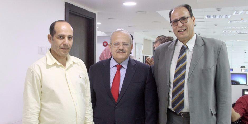 """رئيس جامعة القاهرة في ضيافة """"صوت الأمة"""""""