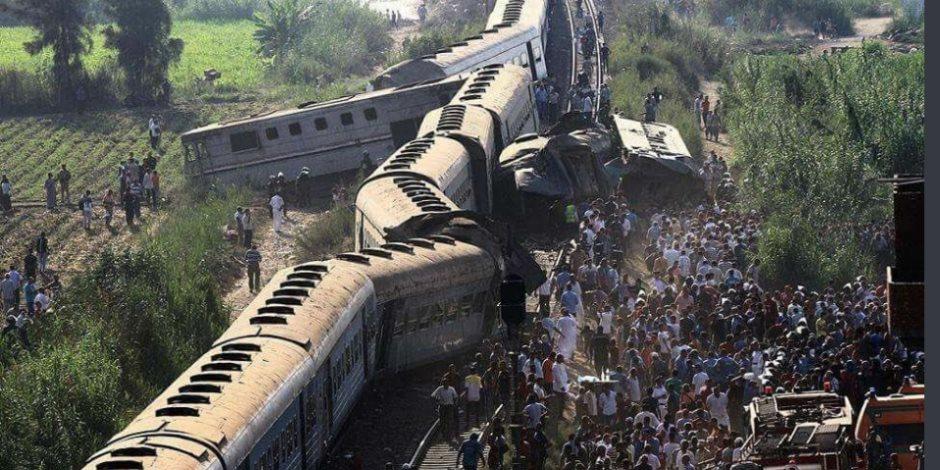 حادث تصام قطاري الإسكندرية في أرقام