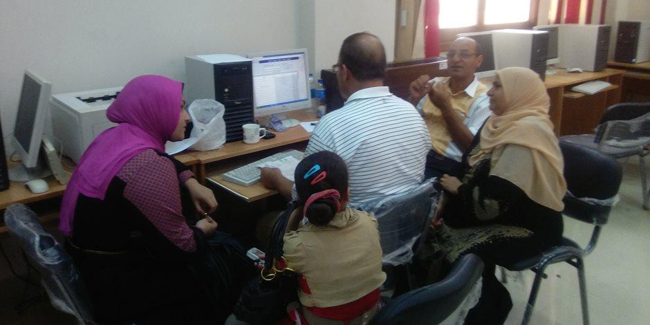 تسجيل رغبات 300طالب وطالبة بمعامل الحاسب الآلي بتربية كفر الشيخ  (صور)