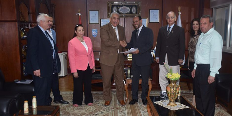 بروتوكول تعاون بين جامعة مدينة السادت وبنك الشفاء المصري (صور)