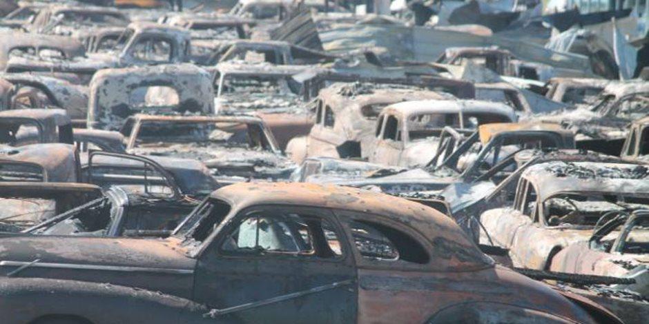 احتراق أكثر من 150 سيارة كلاسيكية في ولاية إلينوي الأمريكية