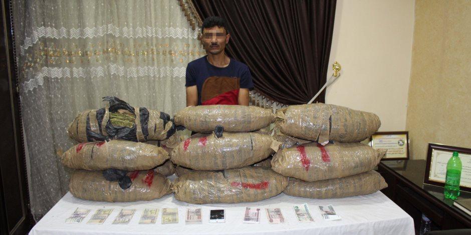 ضبط متهم هارب من السجن المؤبد بحوزته 30 كيلو بانجو في أسيوط