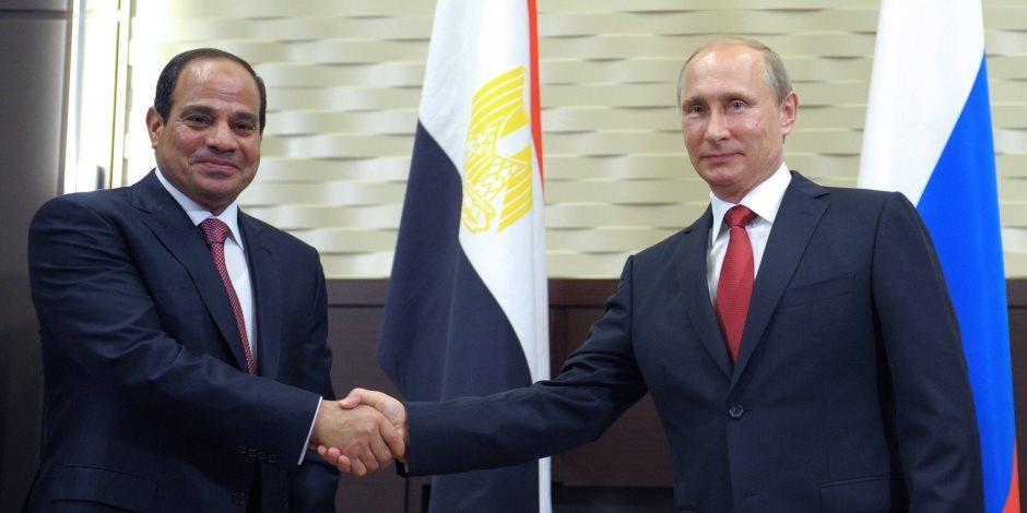 بوتين: مصر تلعب دورا كبيرا في تسوية النزاعات بالشرق الأوسط