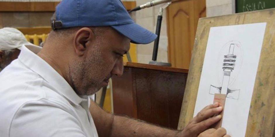 الوفد المصري المشارك في سومبوزيوم نحت الرخام يقيم ورشة «كيف تولد الفكرة»
