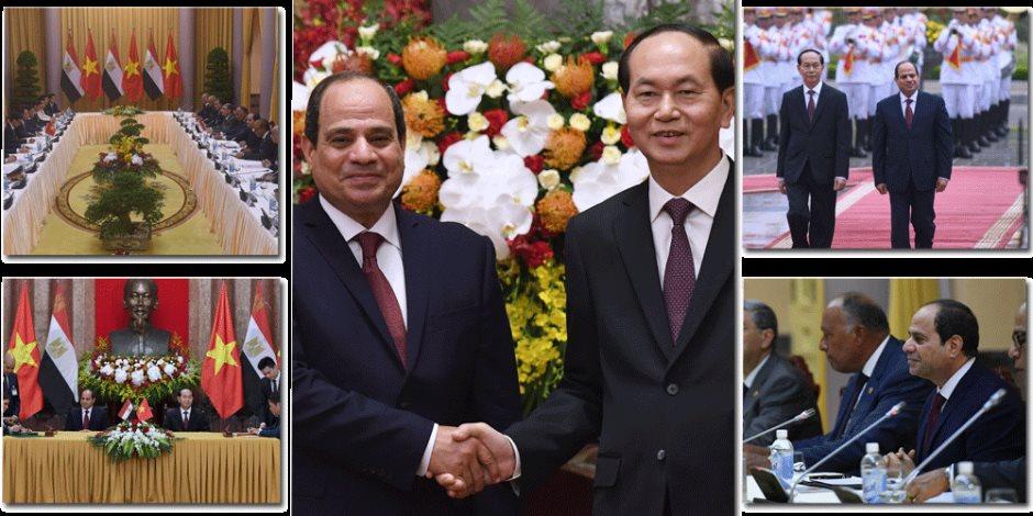 السيسي يصنع التاريخ في أول زيارة لرئيس مصري لـ«فيتنام»