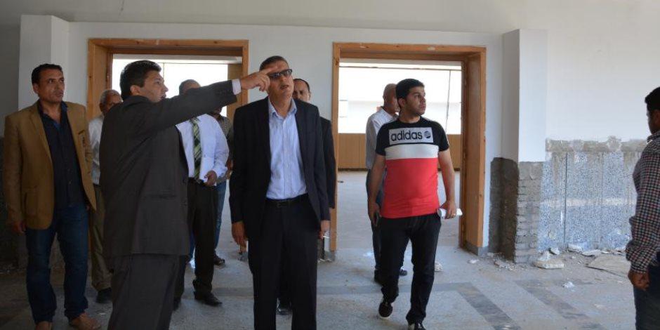 رئيس جامعة دمياط يتفقد المدينة الجامعية للوقوف على استعدادتها لاستقبال الطلاب