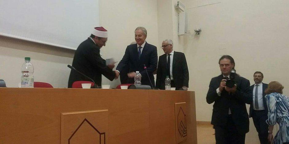 مصطفى راشد يلقي كلمة داخل مقر الفاتيكان.. وتوني بلير: أحببت الإسلام بعد سماعه (صور)