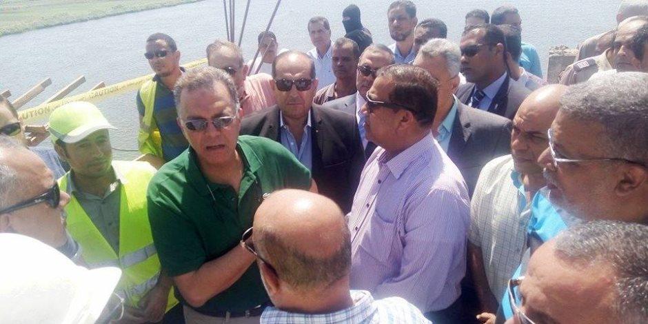 وزير النقل ومحافظ سوهاج يتفقدان الأعمال بمحور كوبري طما العلوي على النيل بنسبة تنفيذ 85%