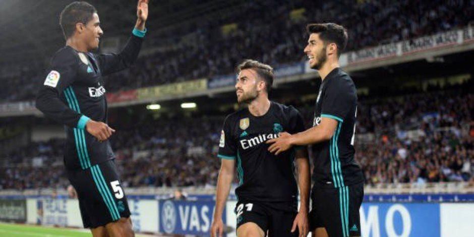 مايورال يمنح ريال مدريد التقدم على سوسيداد في الشوط الأول (فيديو)