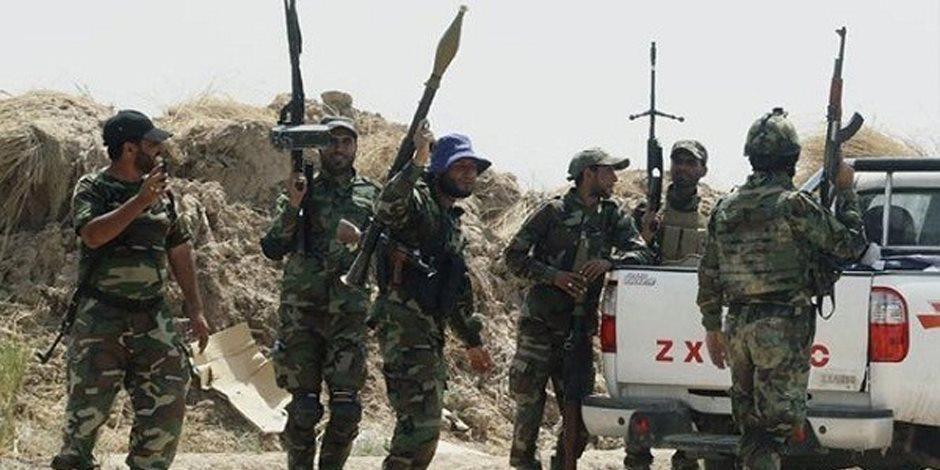 مقتل 5 عناصر من داعش فى تل صفوك الحدودي