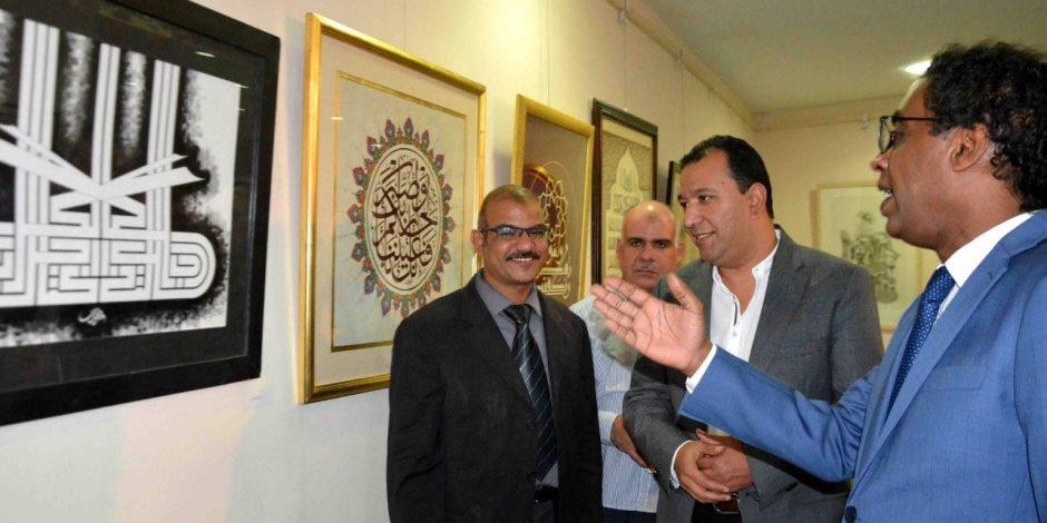 محافظ الأقصر يشهد فعاليات ملتقى القاهرة الدولي لفن الخط العربي (صور)