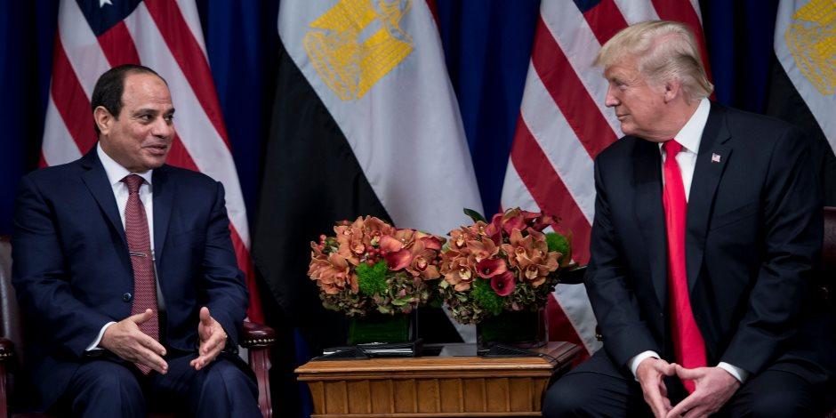بدء لقاء الرئيس السيسي مع ترامب.. اللقاء الثاني في ذات الفندق