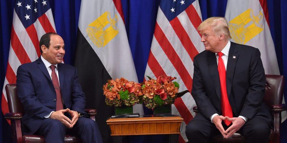 ترامب يؤكد للسيسي دعم بلاده تعزيز السلام والاستقرار في الشرق الأوسط