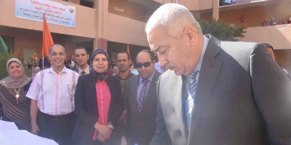 كلية التربية بمدينة السادات تستقبل رئيس الجامعة (صور)