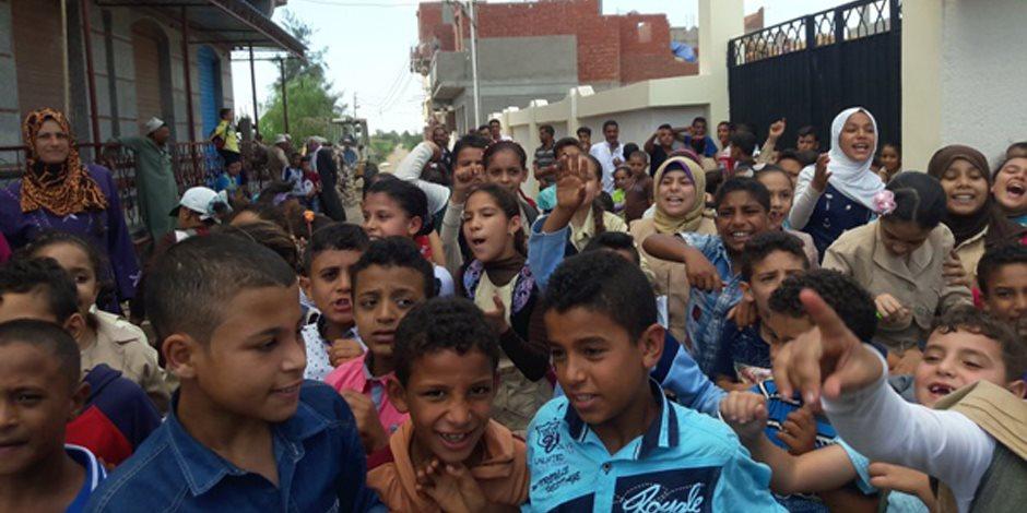إنتهاء أزمة مدرسة «شهداء بورسعيد الابتدائية المشتركة» بالبحيرة بعد فرشها بالأثاث