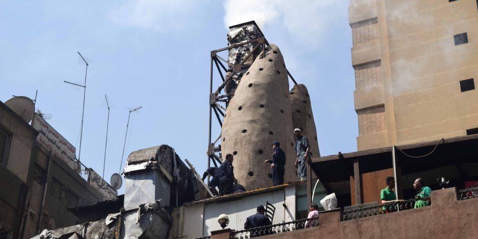 اشتعال حريق بمطعم في شارع البطل أحمد عبد العزيز بالمهندسين