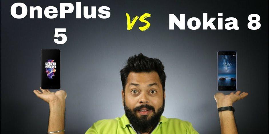 مقارنة بين هاتفى نوكيا 8 الذي تطلقه الشركة في اكتوبر المقبل و OnePlus 5