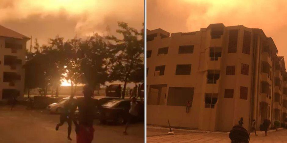 اندلاع النيران في محيط السفارة الأمريكية بليبيا والدفاع المدني يفشل في إخماد الحريق