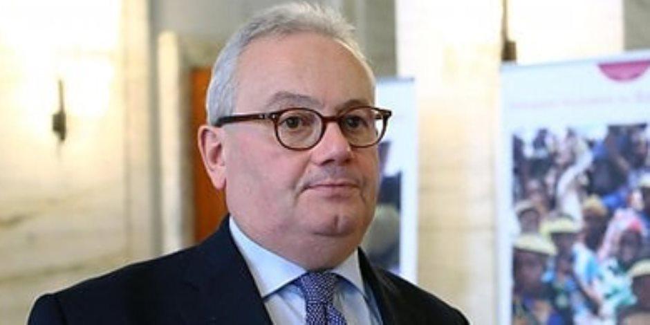 سفير إيطاليا بالقاهرة: نتعاون مع مصر فى قضايا المنطقة ومكافحة الإرهاب