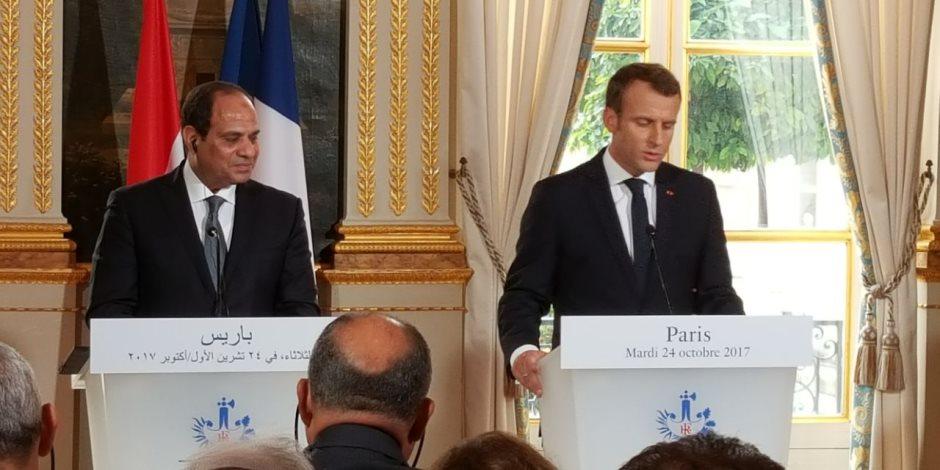 سفير فرنسا: ماكرون يستقبل الرئيس السيسي فى باريس أغسطس المقبل