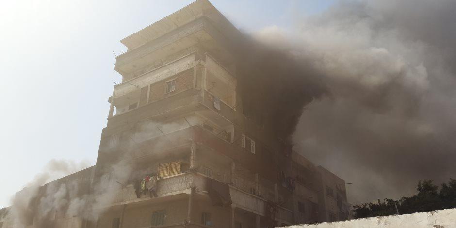 مصرع ربة منزل في حريق 3 منازل بسوهاج