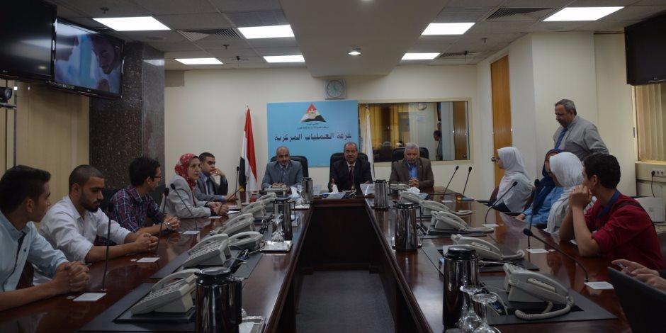"""""""أعضاء الاتحادات الطلابية"""" يزور مركز المعلومات ودعم اتخاذ القرار بمجلس الوزراء (صور)"""