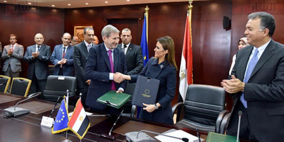 600 مليون يورو.. قيمة 3 اتفاقيات بين سحر نصر والمفوض الأوروبي