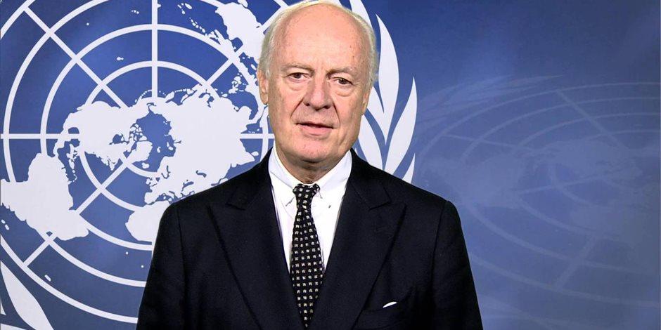 دي ميستورا يدعو الحكومة السورية إلى المزيد من التعاون مع الأمم المتحدة