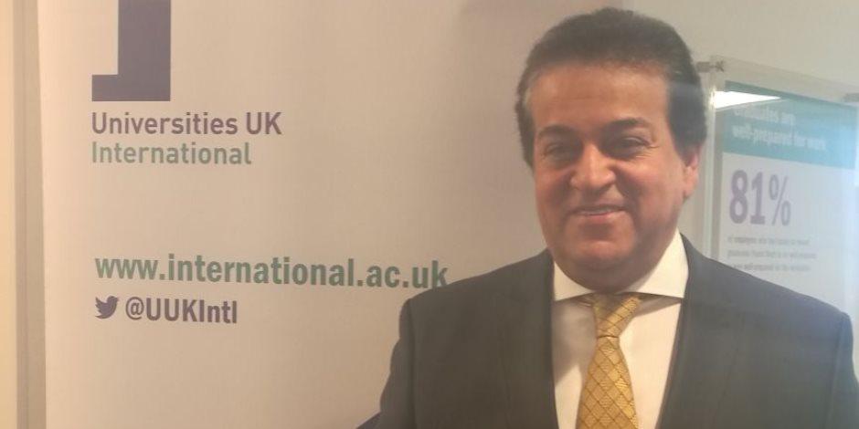 وزير التعليم العالي ببريطانيا: الحكومة المصرية تهتم بتغطية احتياجات الشباب