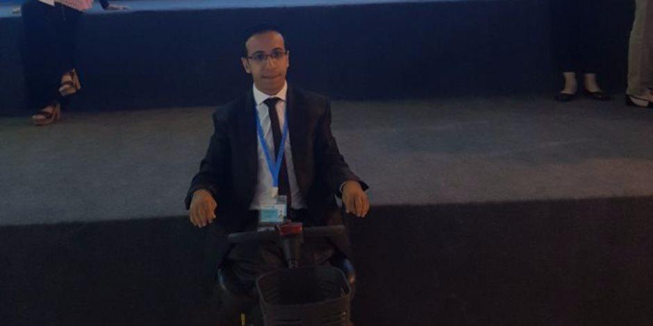 منتدى شباب العالم.. متحدى إعاقة: المؤتمر أكثر من رائع ومليء بالحماسة (فيديو)