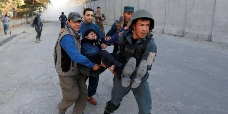 شاهد.. هجوم على محطة تلفزيونية أفغانية في العاصمة كابول