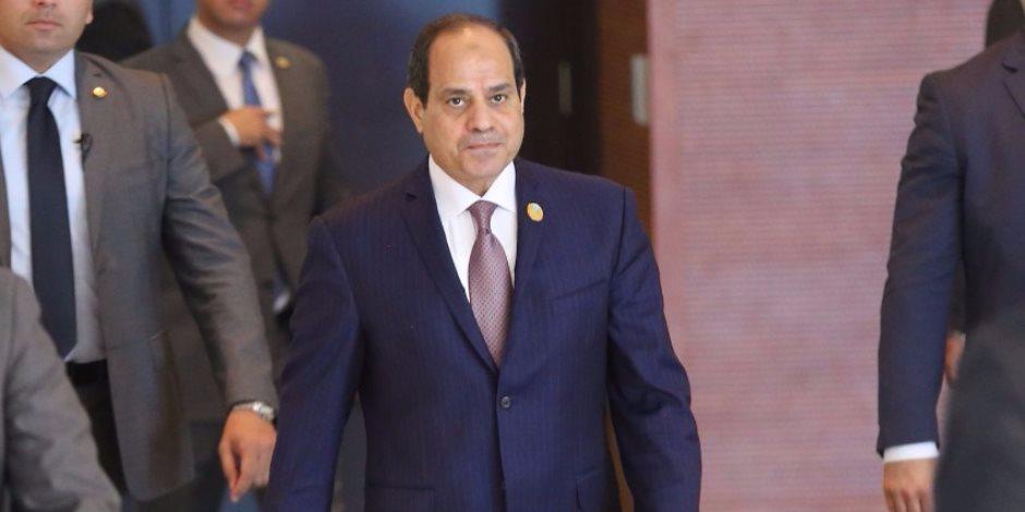 الرئيس السيسي يصل احتفالية الأوقاف بالمولد النبوي الشريف